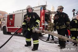 Пожарно-тактическое учение в рамках подготовки к Чемпионату мира по футболу FIFA 2018. Екатеринбург , пожарная машина, пожар, пожарные