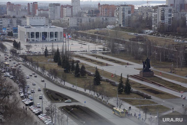 Строительство фонтана на городской эспланаде. Пермь, улица ленина, город пермь, театр-театр, эспланада