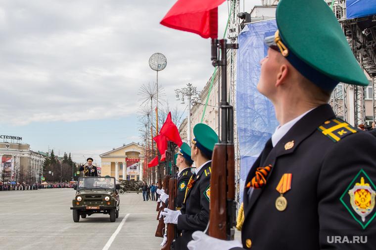 Парад, посвященный Дню Победы. Курган