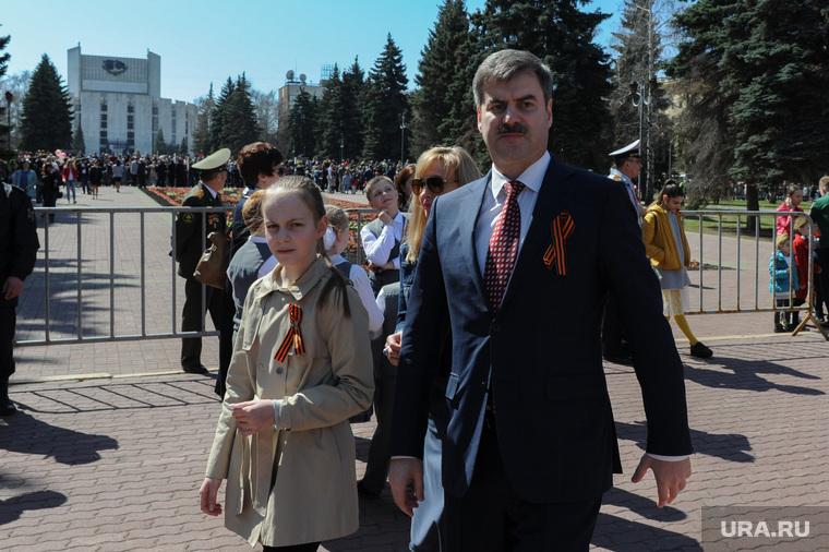 Парад Победы, торжественное построение на Площади революции. Челябинск, редин евгений