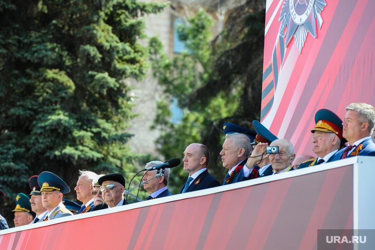 Парад Победы, торжественное построение на Площади революции. Челябинск, трибуна, випы, тефтелев евгений, дубровский борис