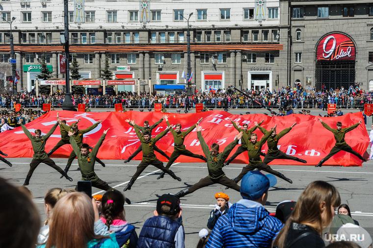 Парад Победы, торжественное построение на Площади революции. Челябинск, концерт, площадь революции, ансамбль урал