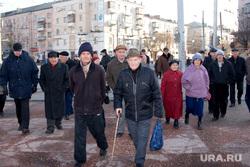 митинг КПРФ Курган07.11.2013г, пенсионеры, старики, дедушка, пожилые люди, пенсионный возраст