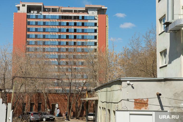 Здание строящейся гостиницы возле Екатеринбург-Арены, строительство, гостиница, отель hyatt