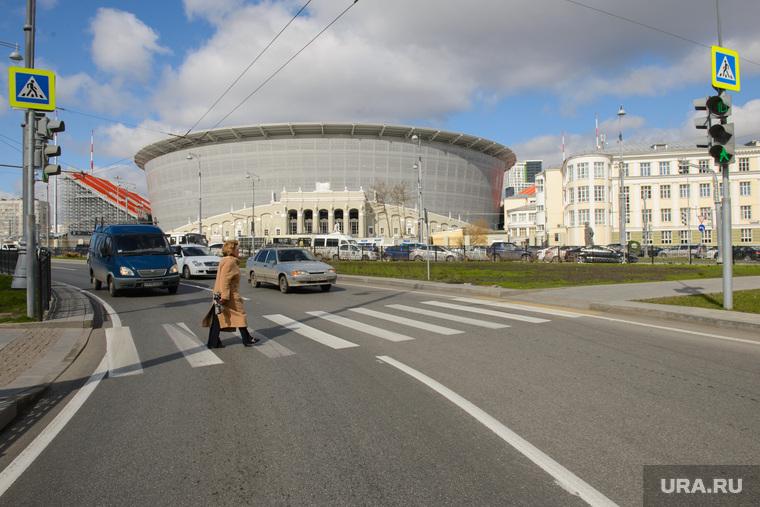 Благоустройство города в районе Екатеринбург-Арены, улица репина, центральный стадион, екатеринбург арена