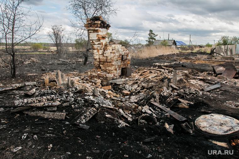 Сгоревшие сельские дома. Мыркайское