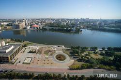 Виды Екатеринбурга, октябрьская площадь, городской пруд, городской пейзаж, город екатеринбург