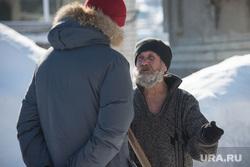Шаля. Опрос жителей поселка по ситуации на Украине, дедушка, старик