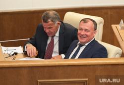 Двадцать второе заседание Законодательного собрания Свердловской области. Екатеринбург , тунгусов владимир, орлов алексей, улыбка, смеется