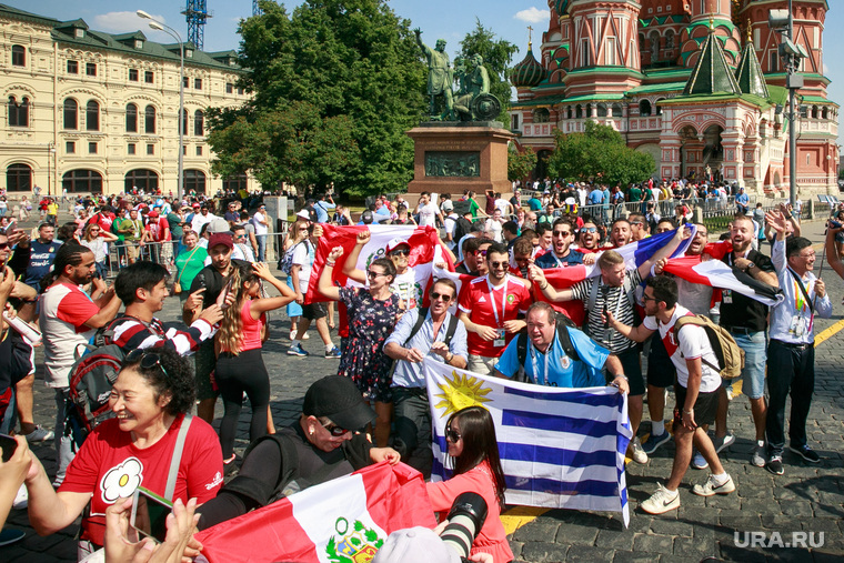 Футбольные болельщики в Москве. Москва, болельщики