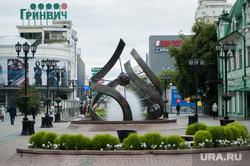 Скульптуры на улице Вайнера. Екатеринбург, гринвич, улица вайнера, фонтан, фонтан спираль времени