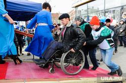 Митинг-концерт посвященный присоединению полуострова Крым к России. Челябинск, инвалид-колясочник