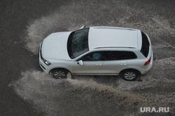 Ливень в Челябинске, дождь, авто, фольксваген, ливень, туарег