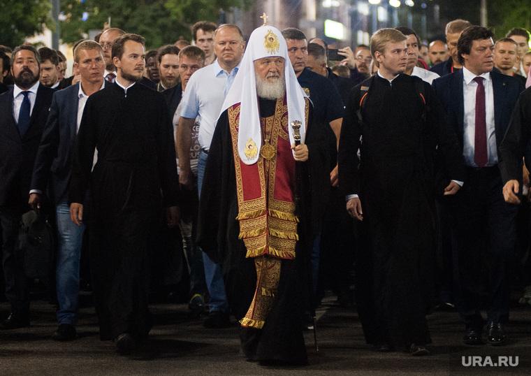 Крестный ход, приуроченный к 100-летию со дня убийства царской семьи. Екатеринбург , патриарх кирилл, цуканов николай
