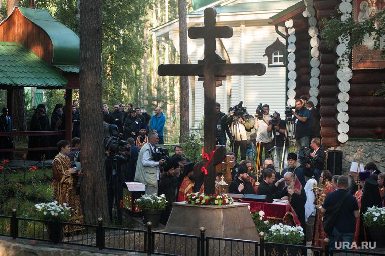 Крестный ход, приуроченный к 100-летию со дня убийства царской семьи. Екатеринбург , крест, ганина яма