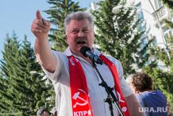 Митинг против пенсионной реформы. Курган, зырянов виктор, кпрф, указывает пальцем