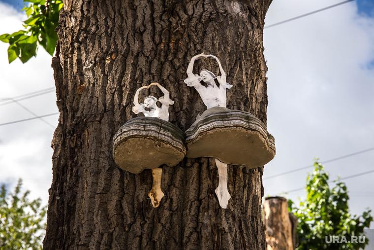 Балерины на деревьях. Екатеринбург