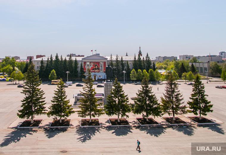 Виды города. Курган, площадь ленина, правительство курганской области, курганская областная дума, город курган