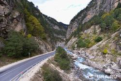 Ингушетия. Горы., река, горы, дорога