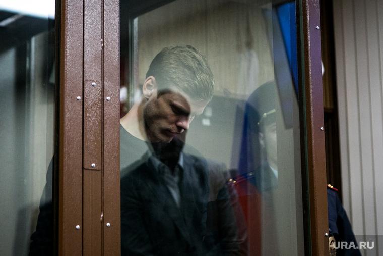 Александр Кокорин в зале Тверского районного суда г. Москвы. Москва, клетка, кокорин александр