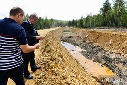 Строительство обводного канала реки Сак-Элга вокруг Карабаша. Челябинская область, лихачев сергей, безруков виталий