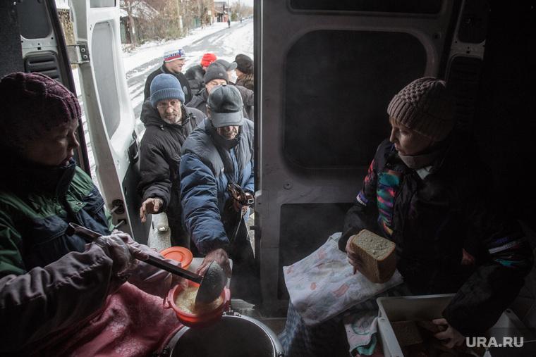 Кормление бездомных и социально не защищенных. Тюмень, кормление, богадельня