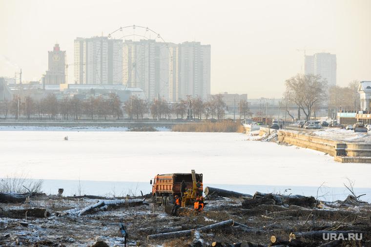 Будущие гостиницы к саммитам ШОС и БРИКС. Челябинск, река миасс, строительство конгресс-холла