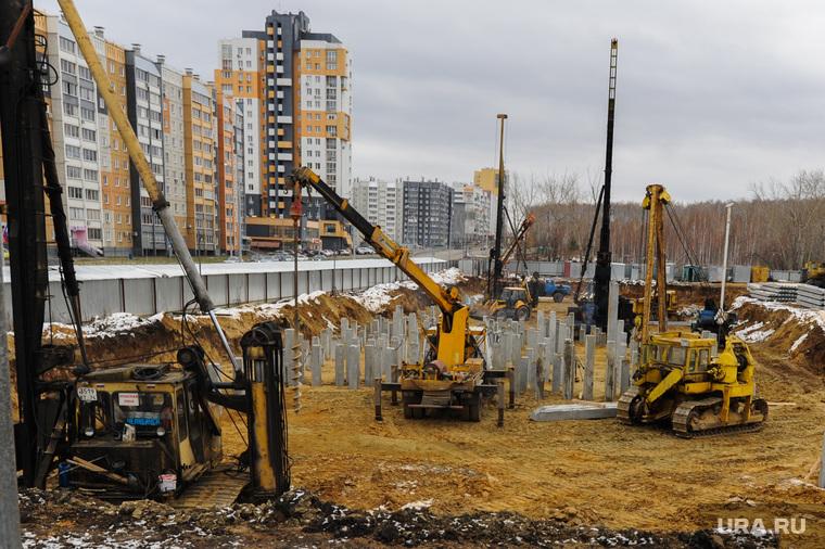 Строительство кампуса ЮуРГУ к саммитам ШОС и БРИКС. Челябинск, стройка, строительство, сваи