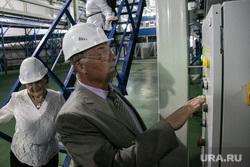 Посещение мусоросортировочного завода Константином Фрумкиным и Денисом Храмовым. Тюмень, мусоросортировочный завод