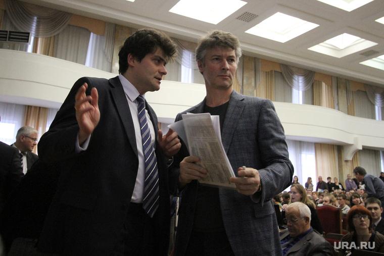 Публичные слушание по проекту бюджета Екатеринбурга. , высокинский александр, ройзман евгений