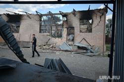 """Село Амвросиевка. Последствия обстрела """"градом"""". Украина, война, разрушения, последствия взрывов"""