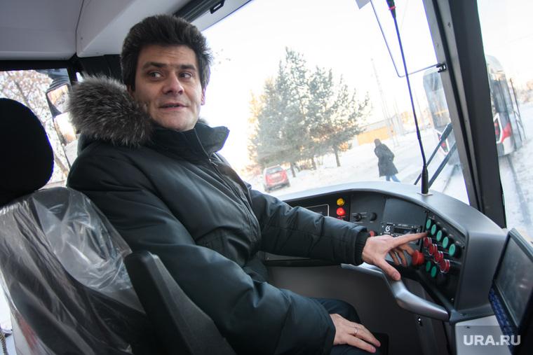 Александр Высокинский тестирует новые трамваи. Екатеринбург