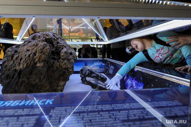 День метеорита в Государственном историческом музее Южного Урала. Челябинск, рука, экспонат, челябинский метеорит, истерика