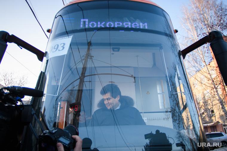 Александр Высокинский тестирует новые трамваи. Екатеринбург, высокинский александр, низкопольный трамвай, общественный транспорт, трамвай увз, водитель трамвая, трамвай, модель415