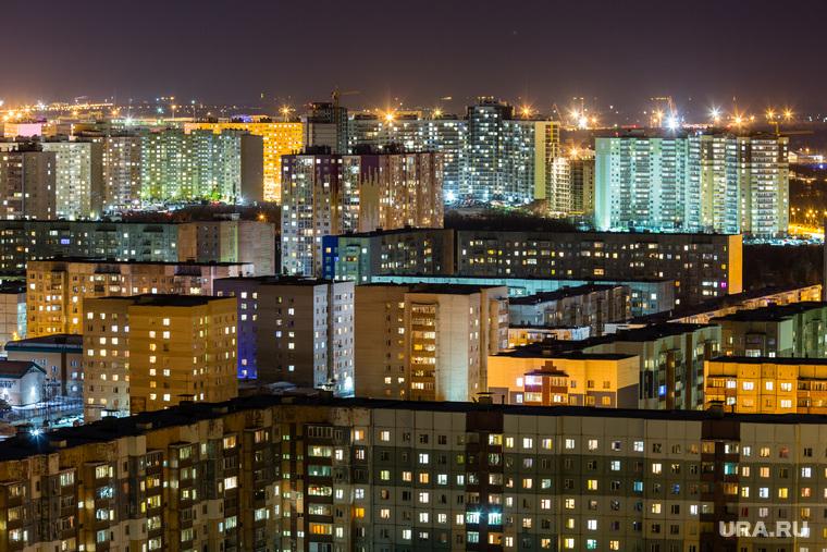 Город ночью. Сургут, ночь, ночной город, огни города, городской пейзаж