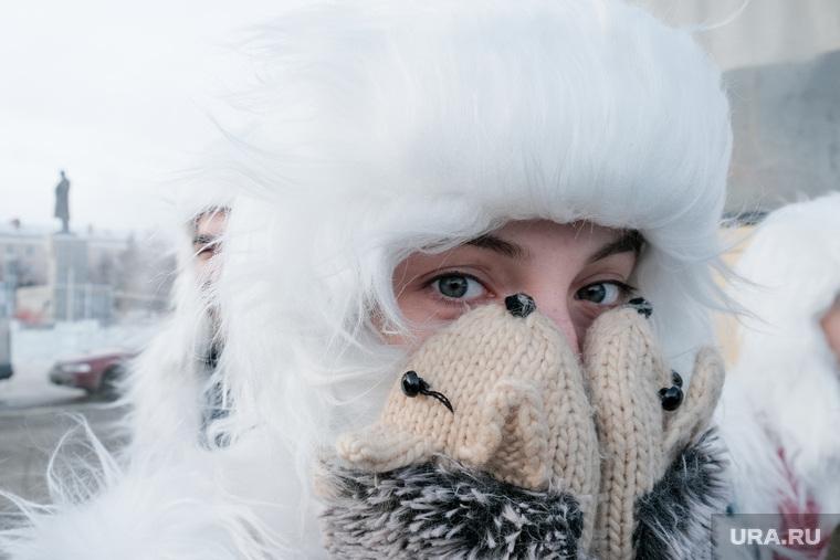 Фестиваль самодеятельного народного творчества «Зауральские колядки». Курган, холод, мороз, варежки, зима