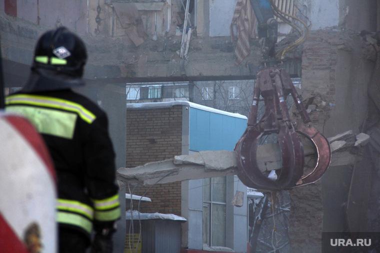 Взрыв бытового газа в доме № 164 на проспекте Карла Маркса. Часть 9. Магнитогорск, разбор завалов, грейферный захват