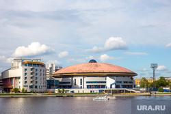 Всякое. Екатеринбург, набережная, дивс, дворец игровых видов спорта, катер, река исеть, город екатеринбург