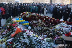 Панихида по погибшим жителям дома № 164 на проспекте Карла Маркса. Магнитогорск, панихида, мемориал