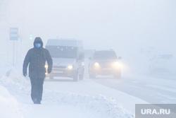 Мороз и ледяной туман. Салехард. 31 января 2019 г, проезжая часть, мороз, зима, туман