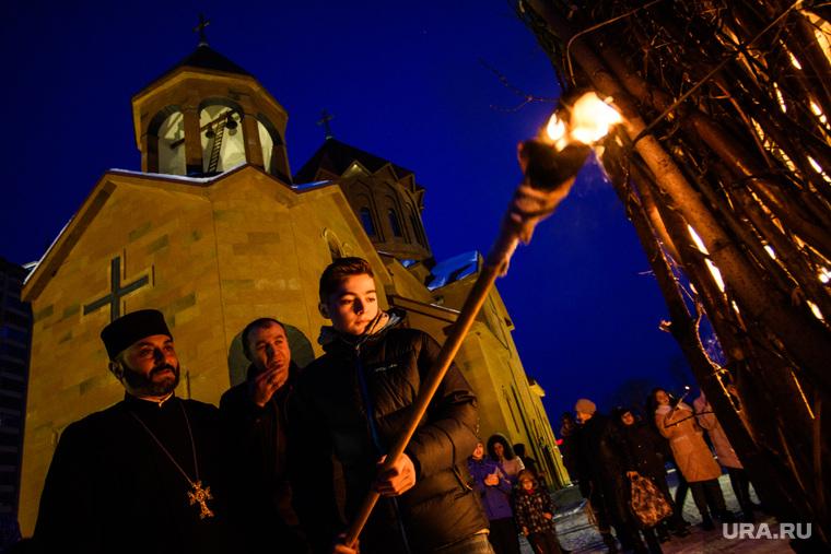 Празднование Терендеза в Церкви Святого Карапета. Екатеринбург