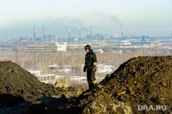 Городская свалка. Экологи исследуют квадрокоптером, пожарные дежурят на случай возгорания. Челябинск, мчс, городская свалка, пожарные