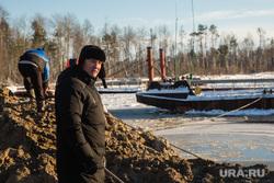 Восстановление переправы на реке Лямин, разрушенной ледоходом. Сургут