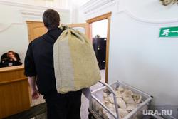 Кассовый зал Госбанка России, прием и сдача денег из коммерческих банков. Челябинск