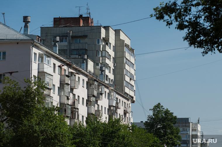 Виды Екатеринбурга, жилой дом, недвижимость, спальный район