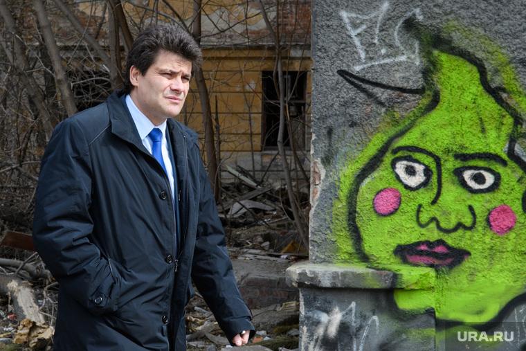 Александр Высокинский в Зеленой роще. Екатеринбург, рисунок на стене