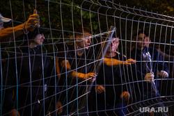 Ночной протест против строительства  храма святой Екатерины в сквере около драмтеатра. Екатеринбург