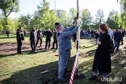 Протесты против строительства храма Св. Екатерины в сквере у театра драмы.Екатеринбург