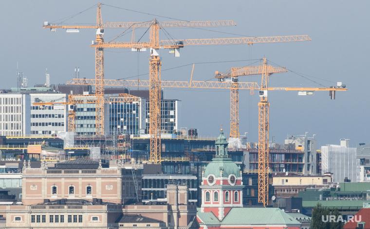 Виды Стокгольма. Швеция, строительство, строительные краны, стокгольм