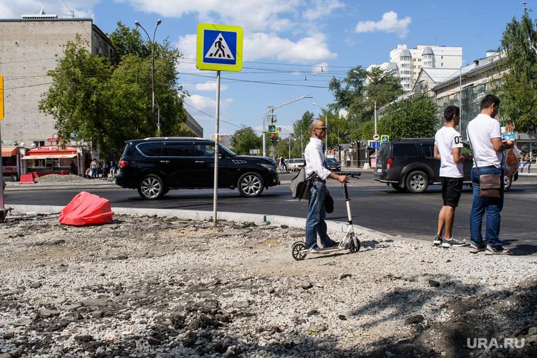 Дорожные работы на центральных улицах Екатеринбурга